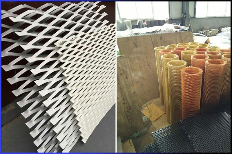 walkway aluminum mesh expanded metal stretching mesh
