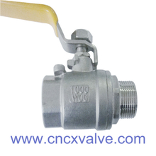 2PC Ball Valve Female And Male Threaded