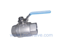 2PC Ball Valve With Direct Mounting Pad 1000WOG