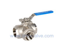 3way Screwed Ball Valve con Directly Pad