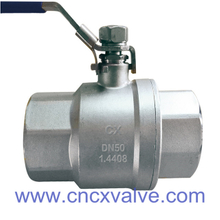 2PC Screwed End Ball Valve Din M3 Standard