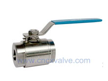 2PC Body Forged Steel Ball Valve