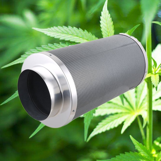 Hydroponic carbon filters/carbon bed depth 50mm carbon filters