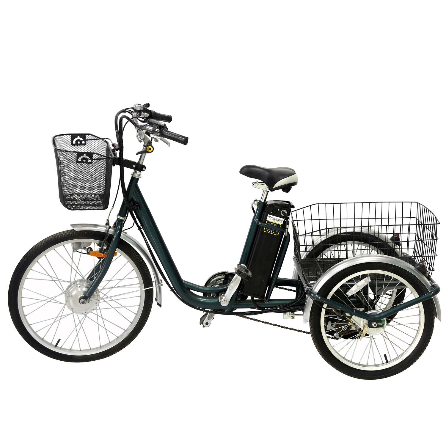 24 Quot 3 Wheel Adult Electric Cargo Big Wheel Tricycle With