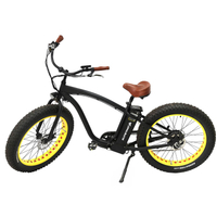 Alloy Frame Man Beach Cruiser Electric Bicycle White Color
