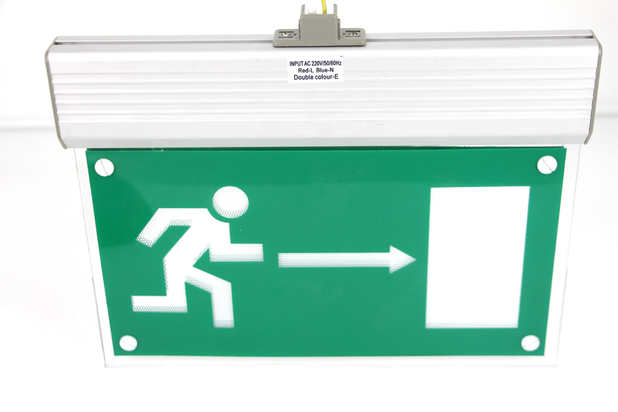 2W Fire Exit Sign/ Emergency Light With Acylic Panel