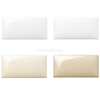 White and ivory color bread tile Subway tile 75*150mm