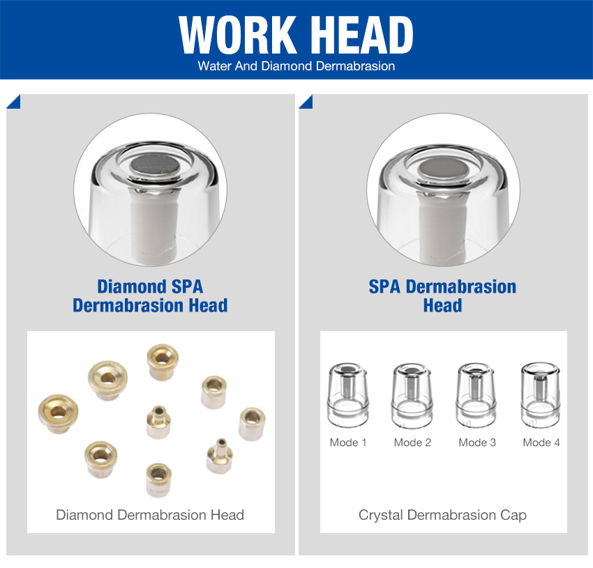 Professional microdermabrasion machine work head
