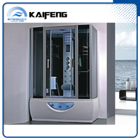 Cheap Aqua Glass Sauna Steam Shower Cabin