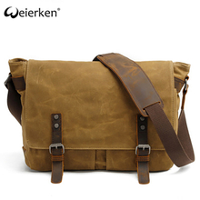 new design anti-theft computer bag canvas leather messenger bag