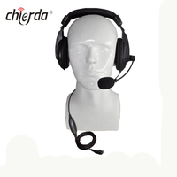 Chierda CD-500R Helmet-Conduction Type Noise Cancelling Headset for Transceiver And Walkie Talkie