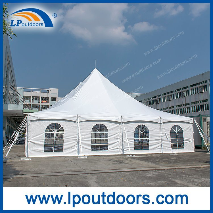 40X80 Outdoor High Peak Peg and Pole Tent with Roof Lining for Wedding