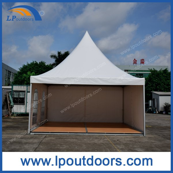 5X5m Aluminum Frame Wood Flooring Pagoda Gazebo For Event