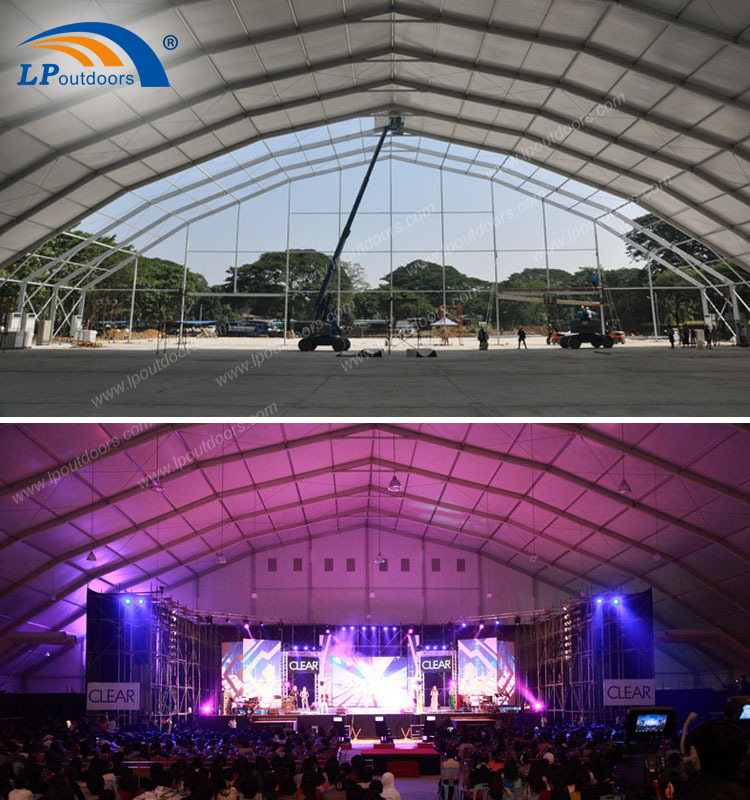 Big polygon concert or sports event tent customized design party tent