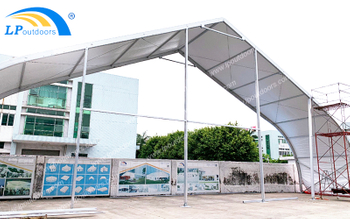 LPoutdoor Make A New Style Gym Uesd Aluminum 25m Large Curved Sports Tent For Outdoor Event