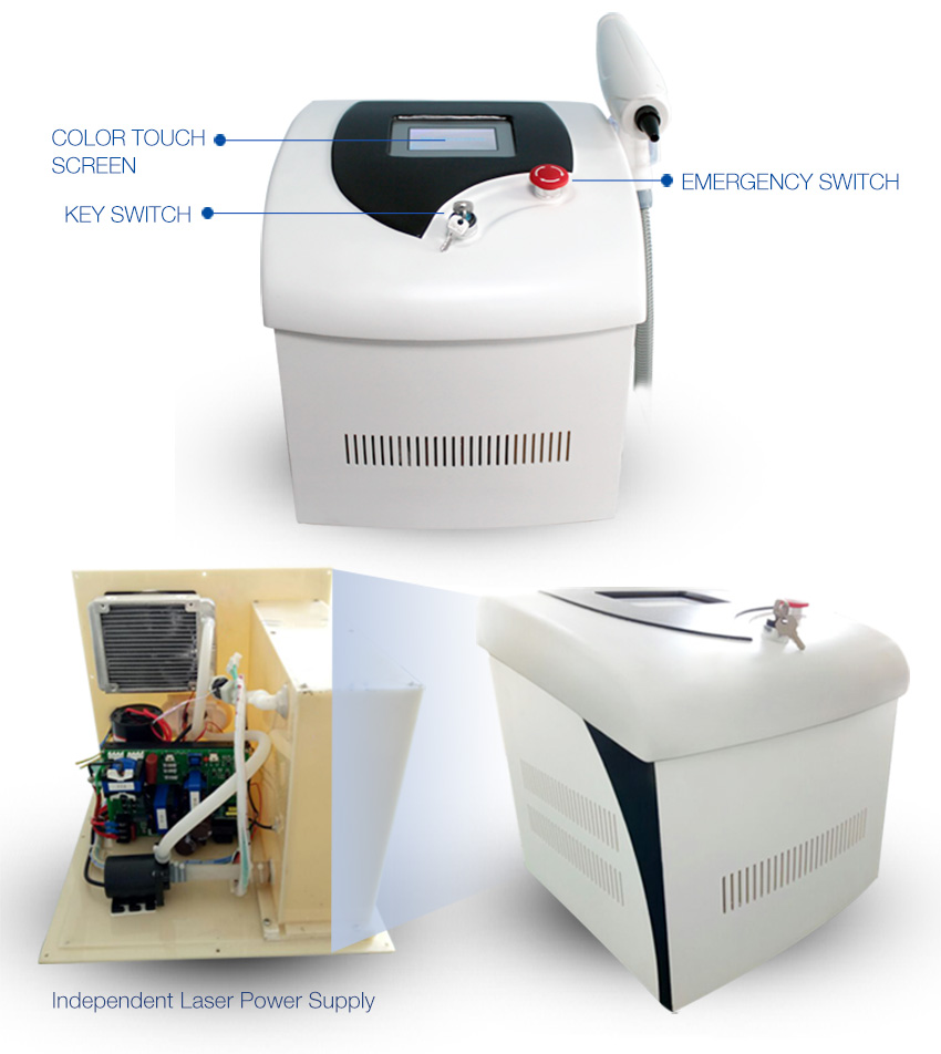 laser tattoo removal machine display