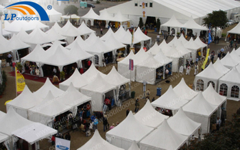 A Large Trade Show Event Was Held In 30x60m Outdoor Exhibition Tent And Aluminum Pagoda Tent