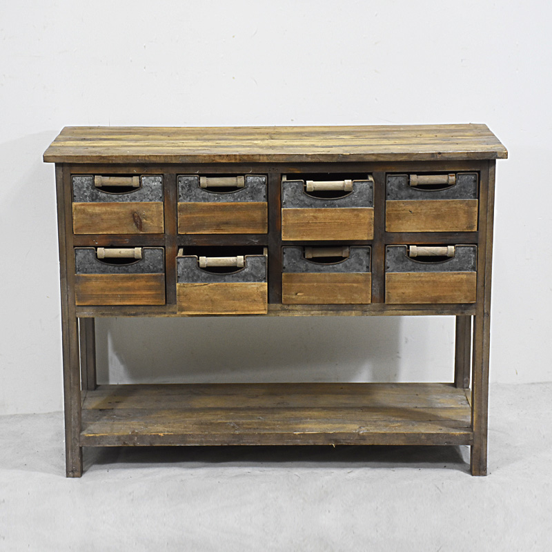 retro industrial furniture with vintage industrial furniture fir wood table with drawers and open shelf