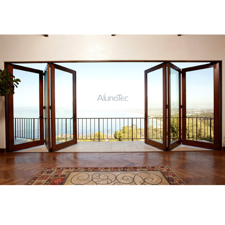 Aluminum Heavy Duty Folding Door with Double Glazed Glass - Buy ...