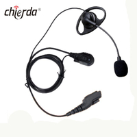 Chierda CD-E45V-M D shape Earhook & Earbuds Type Walkie Talkie Earphone Wireless for Two Way Radio