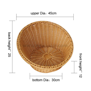 round bevel cheap wholesale pp rattan basket