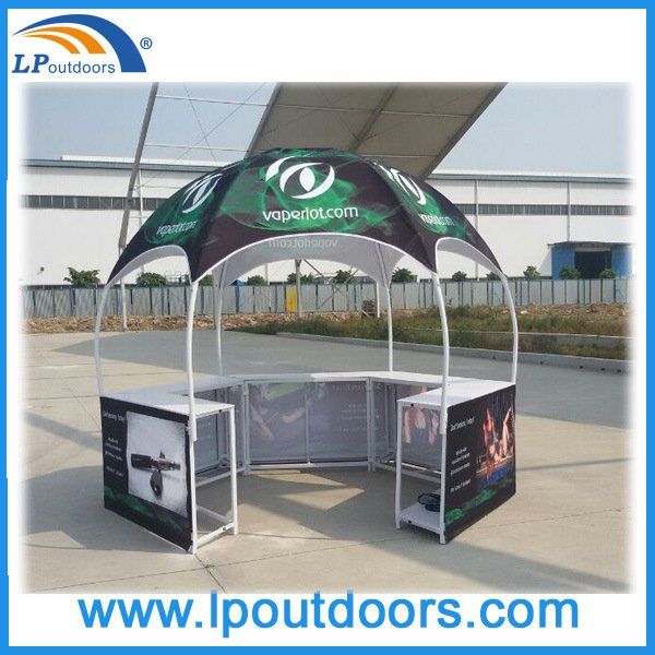 Outdoor Hexagonal Colorful Promotion Display Counter Tent