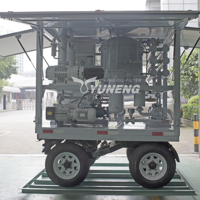6000L/H Yuneng Mobile Used Transformer Oil Filtering Machine