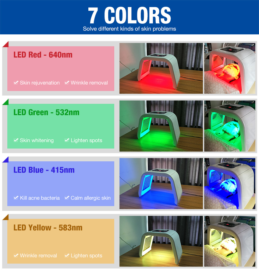 led light therapy machine 7 color 7 function