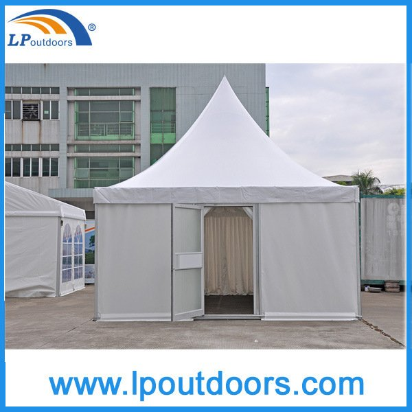 5X5m Luxury Aluminum Pagoda Marquee Tent with a Glass Door