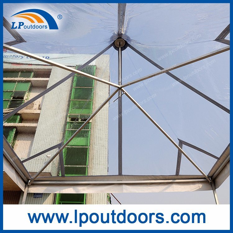 5X5m Transparent Clear PVC Pavilion Gazebo