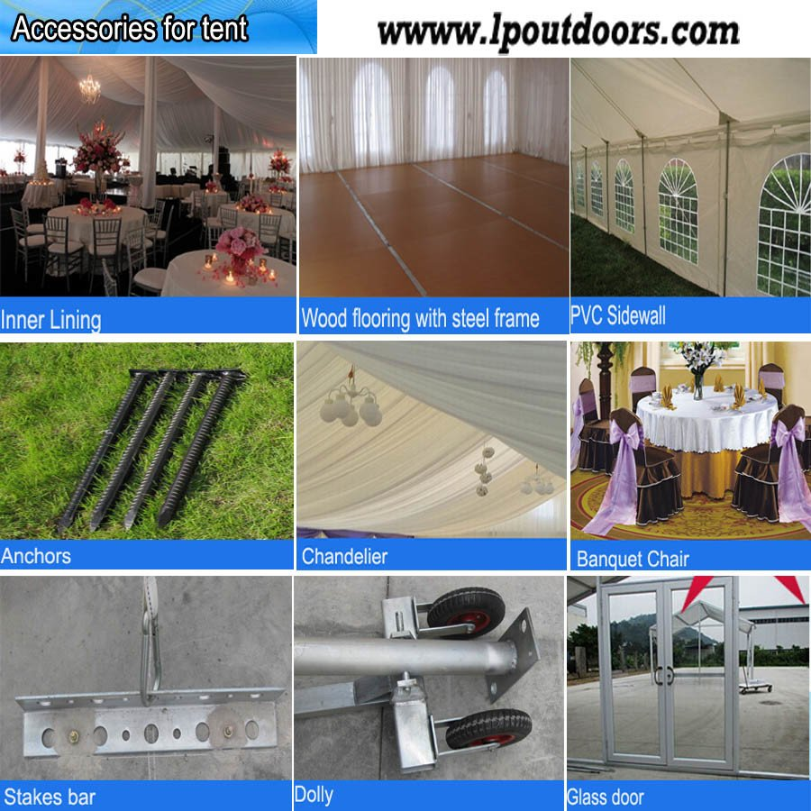 60' Width Steel Pole Party Wedding Tent for Event