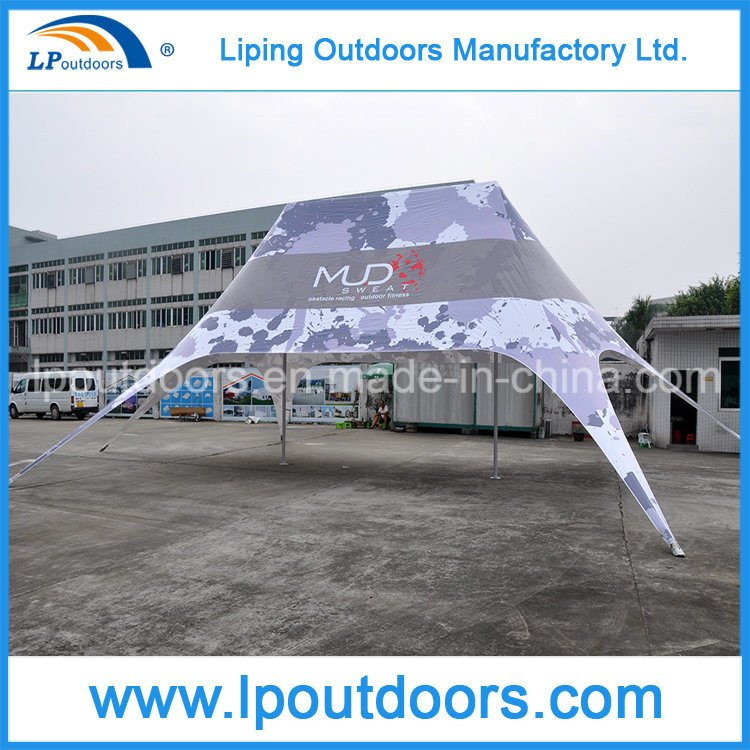 14X19m Outdoor Aluminum Star Shade Tent with Logo Printing