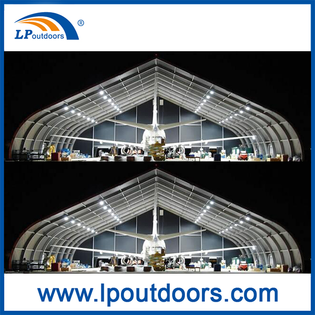 Aluminium Curve TFS Hangar Tent For Outdoors Storage