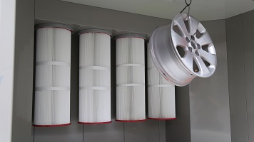 Car wheels powder spray booth colo-2315