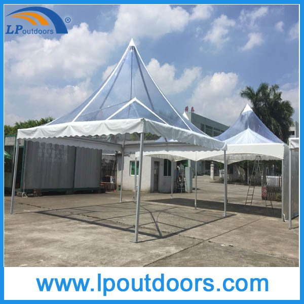 6X6m Outdoor Aluminum High Peak Transparent Marquee