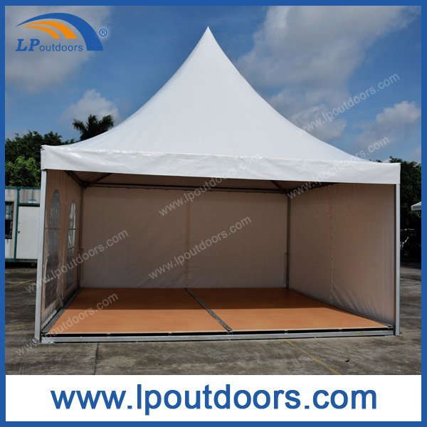 5X5m Outdoor Gazebo Pagoda Tent with Wood Flooring for Wedding