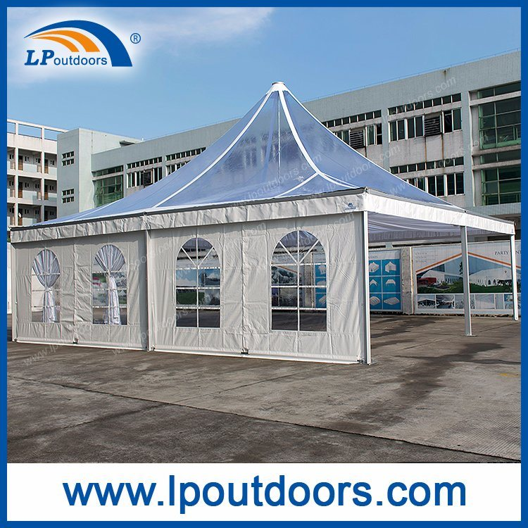 10X10m Outdoor Luxury Clear Roof Marquee Pagoda Tent for Wedding