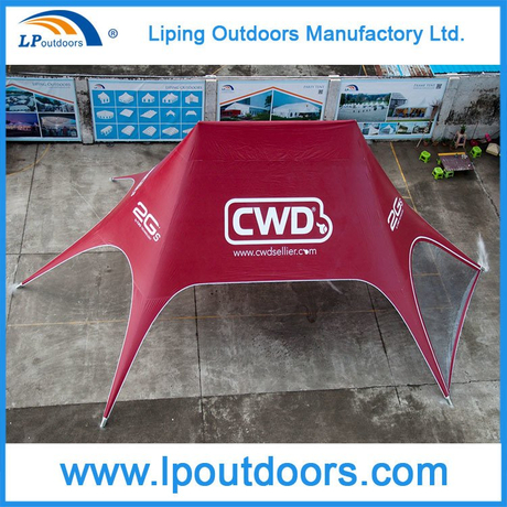 10X14m Outdoor Aluminum Star Shade Tent with Logo Printing