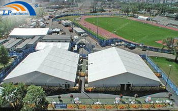 A Project About 50M Wide Fully Transparent Event Tent For Sports