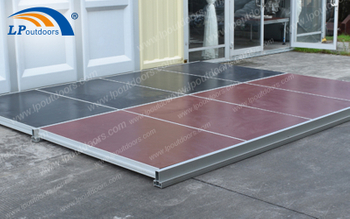 Cassete Wood Floor System Used In The Aluminum Outdoor Wedding Party Tent