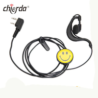 Chierda E13C-K PTT Smile face single side Noise Cancelling Headset for Walkie Talkie