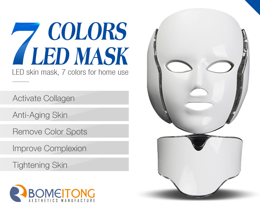 led light therapy mask 7 color led