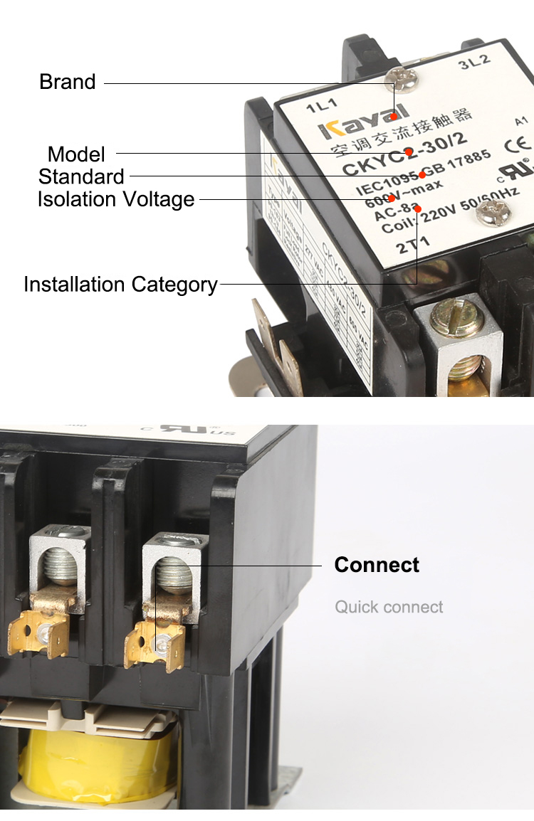 2 Pole 20 Amp 30 40 Definite Purpose Contactor Buy Ac Wiring Diagram