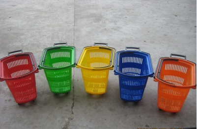 colorful shopping baskets