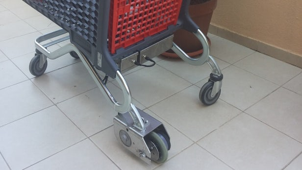 supermarket shopping carts in electricity