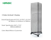 3 Sides Gridwall Display Stand