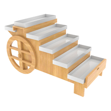 Wide 5 Step Display Cart