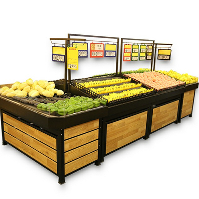 Vegetable And Fruit Display Rack for Supermarket