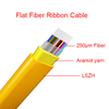 Indoor Fiber cables Flat Ribbon type LSZH 2.5*5.0mm Aramid Yarn Single mode cable fibra óptica