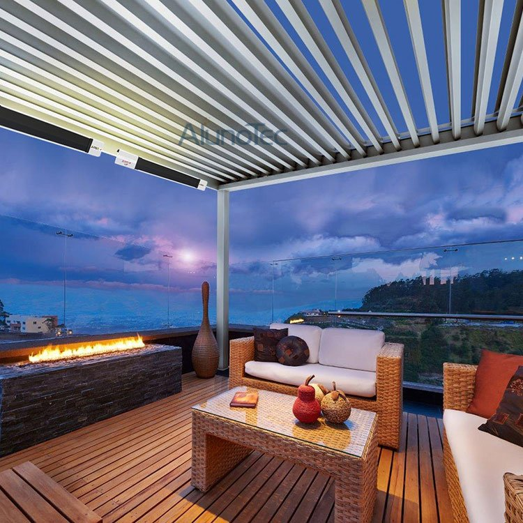 Outdoor Remote Control Louvered Roof Pergola Buy